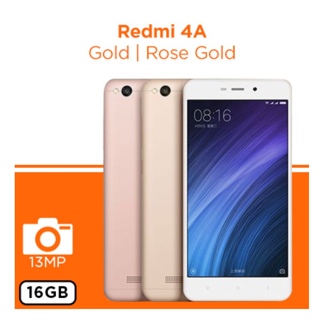 Xiaomi 4a 16gb New Rose Gold Mobile Phones Tablets Android Redmi 2gb On Carousell