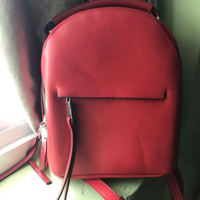 Zara Elegant Red Stylish Backpack