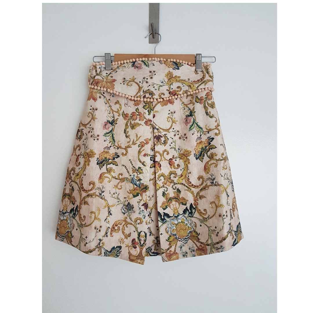 ZIMMERMANN PAINTED HEART SKIRT SIZE 1 BRAND NEW