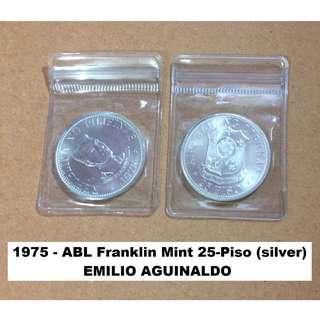 1975 25-Piso Emilio Aguinaldo Commemorative Silver Coin