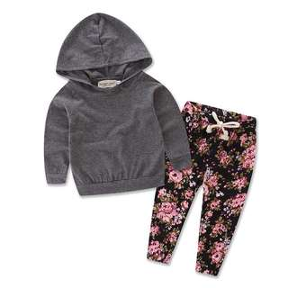 Baby Shirt with Hooded & Long Pants
