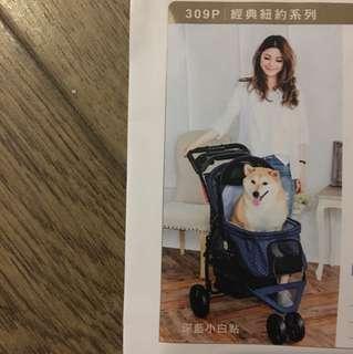 經典寵物推車,適合25公斤以下的寵物,附購買證書
