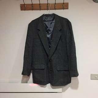 古著 西裝外套 格紋