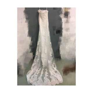 90%new 婚紗 購入價$4999 現售$500 size S 33/25/34