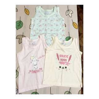 3pcs Sando for baby girls