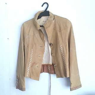 Leather Coat (Brown)