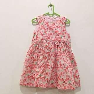 Dress bunga pink