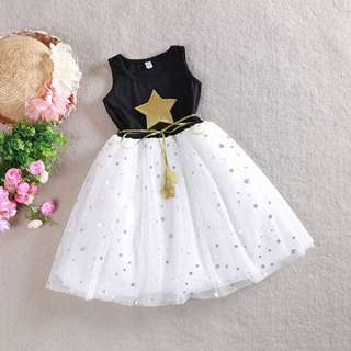 Princess Kids Stars Party Dress
