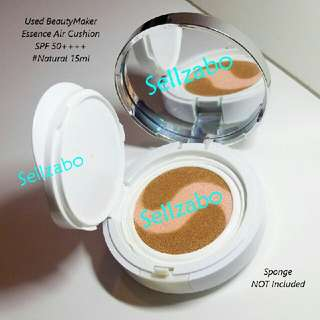 #Natural Used 2 Times : Kevin 老师 BeautyMaker Essence Air Cushion SPF 50+++ Face Facial Foundation Makeup Cosmetics Taiwan Lao Shi