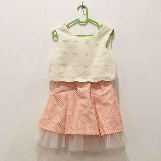 Dress peach pattern