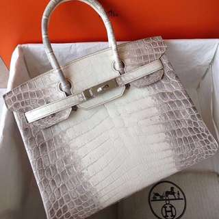 Authentic Hermes Birkin 30 Himalayan phw stamp X