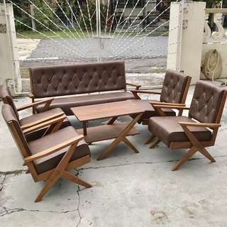 Retro K-leg Teak Sofa set