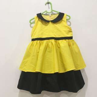 Dress kuning hitam