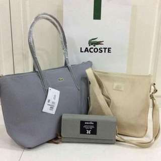 LACOSTE Bag and Wallet Set