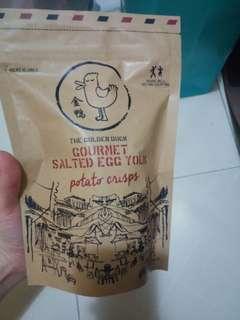 Golden duck salted egg yolk potato chips 鹹蛋薯片