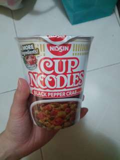 Cup noodle black pepper crab flavour 黑椒蟹杯麵