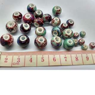 Ceramic  beads for handmade DIY  jewellery, necklace, Chinese knot craft decoration