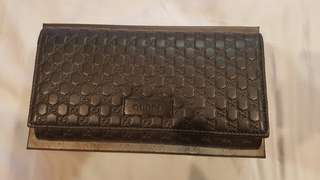 Long Gucci women wallet (Dark Brown)