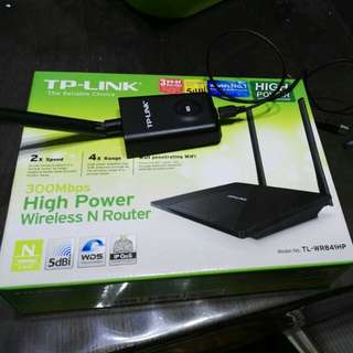 tplink adaptor tl-wn7200nd and router tl-wr841hp