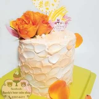 Flower mousse cake