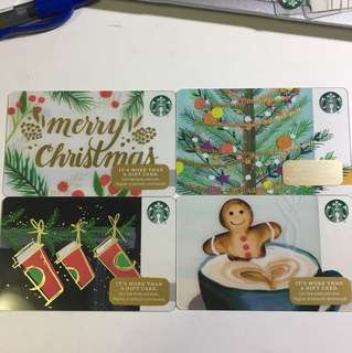 Starbucks card(美國卡)Christmas版 聖誕