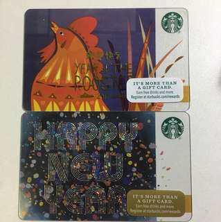 Starbucks card(美國卡)New Year 新年