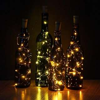 Wine Bottle Cork LED Lights Copper Wire Starry Lights Battery Powered LED Lights for Party Decor Gift or Night Lights