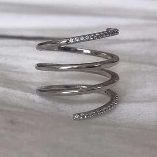 Spiral ring - silver