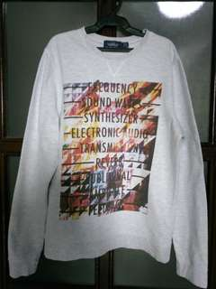 TOPMAN Printed Pullover (Small)
