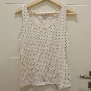 White pattern tanktop