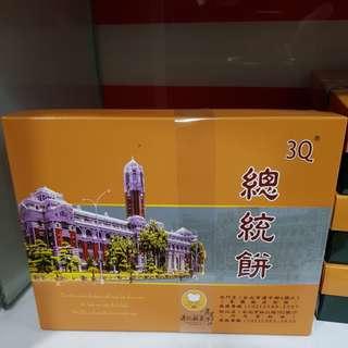 ✈大玩台灣代購✈港記3Q總統餅(綠茶/山藥)-6入