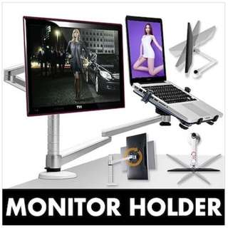 Adjustable Computer Monitor / LapTops / Tablet PC / iPAD Mini Stand Holder Arm Brackets.