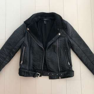 Forever 21 Pebbled Faux Leather Jacket