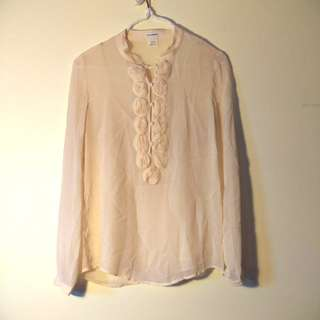 Club Monaco blouse with slip