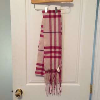 Authentic Burberry pink check scarf