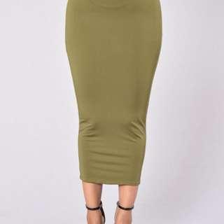 Fashionnova Olive pencil skirt