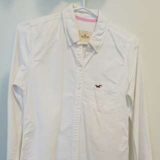Hollister White Button Up shirt - size S