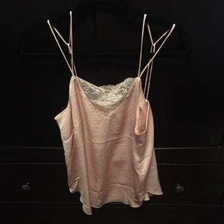 H&M silk Cami pink