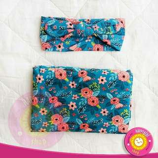 Swaddle and Bandanna headband bedung