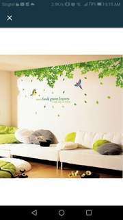 Plants and floral walls sticker in 3 designs