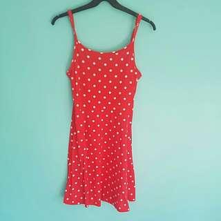 Cotton On Red Polka Dot Dress