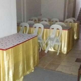 Mini Event Specialist Rental Chair , Table , Skirting & Decoration