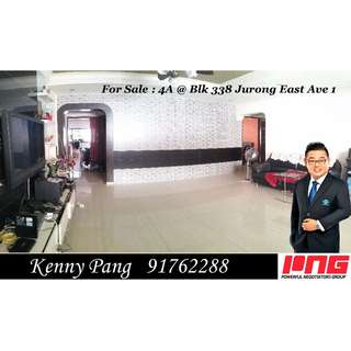 For Sale : 4A @ Blk 338 Jurong East Ave 1