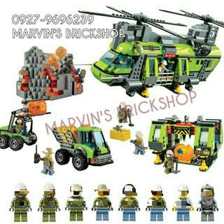 For Sale Volcano Heavy-Lift Helicopter Building Blocks Toy