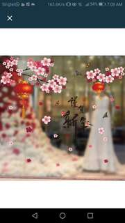 Cny Wall Sticker Decal Set in 4 designs