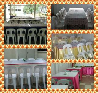 Mini Event Specialist Rental Chair , Table , Skirting , Decoration & Backdrop