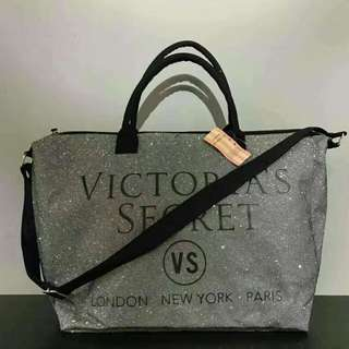 Victoria Secret Tote Bag Grey Color