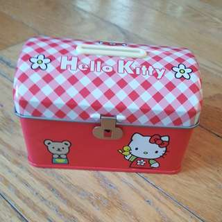 Vintage Hello Kitty Bank Tin Sanrio