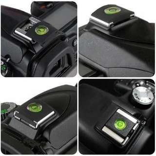 5Pcs Camera Accessories Universal DSLR Camera Bubble Spirit Level Hot Shoe Protector Cover For Canon Nikon