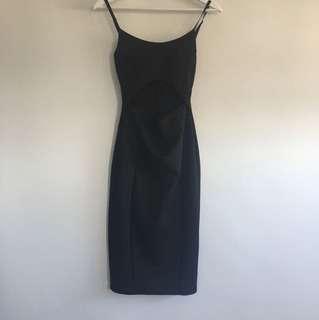 Midi dress with open panel